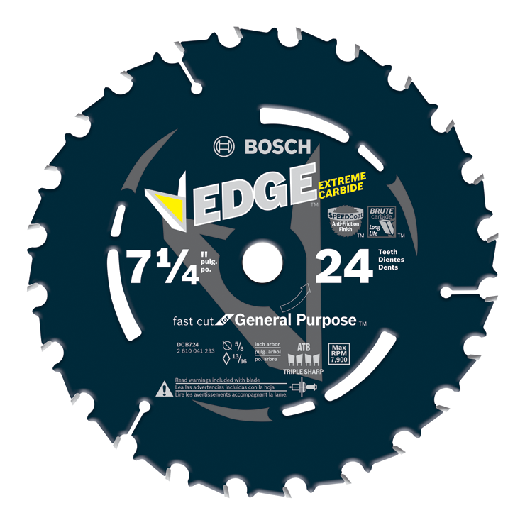 DCB724 7-1/4 In. 24 Tooth Edge Circular Saw Blade for Framing