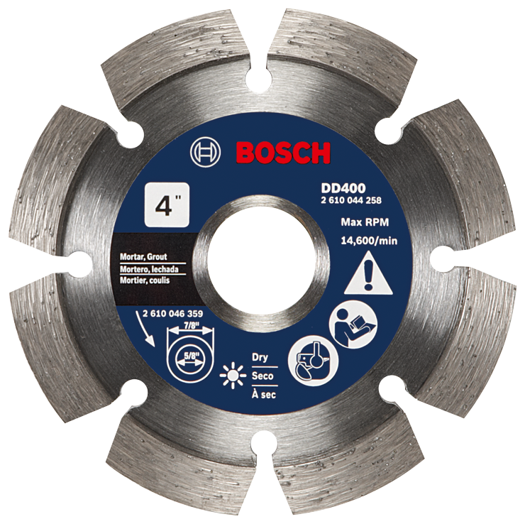 DD400 4 In. Premium Segmented Tuckpointing Blade