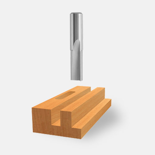 Double-Flute Straight Router Bits