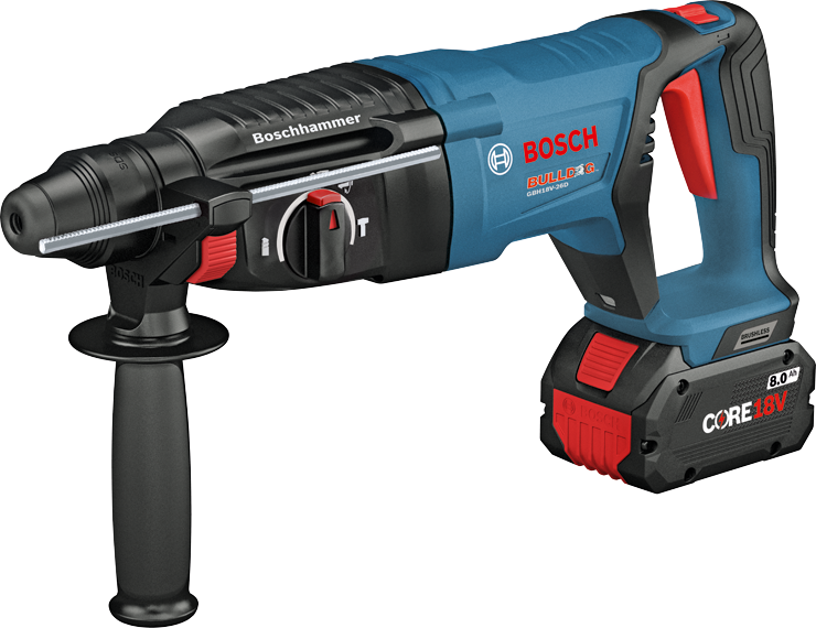 GBH18V-26D Overview 18V EC Brushless SDS-plus® Bulldog™ 1 In. Rotary Hammer