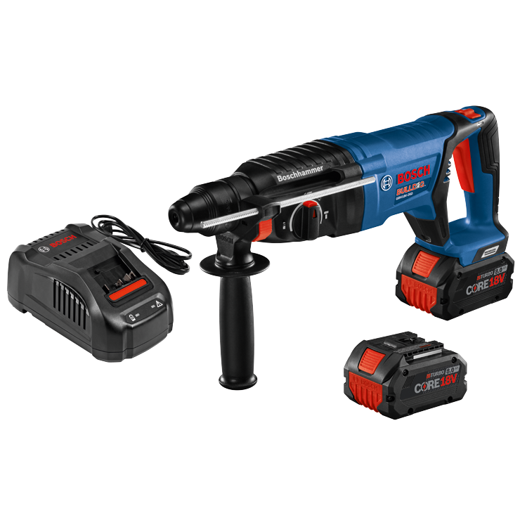 GBH18V-26DK24 18V EC Brushless SDS-plus® Bulldog™ 1 In. Rotary Hammer Kit with (2) CORE18V 8.0 Ah Performance Batteries