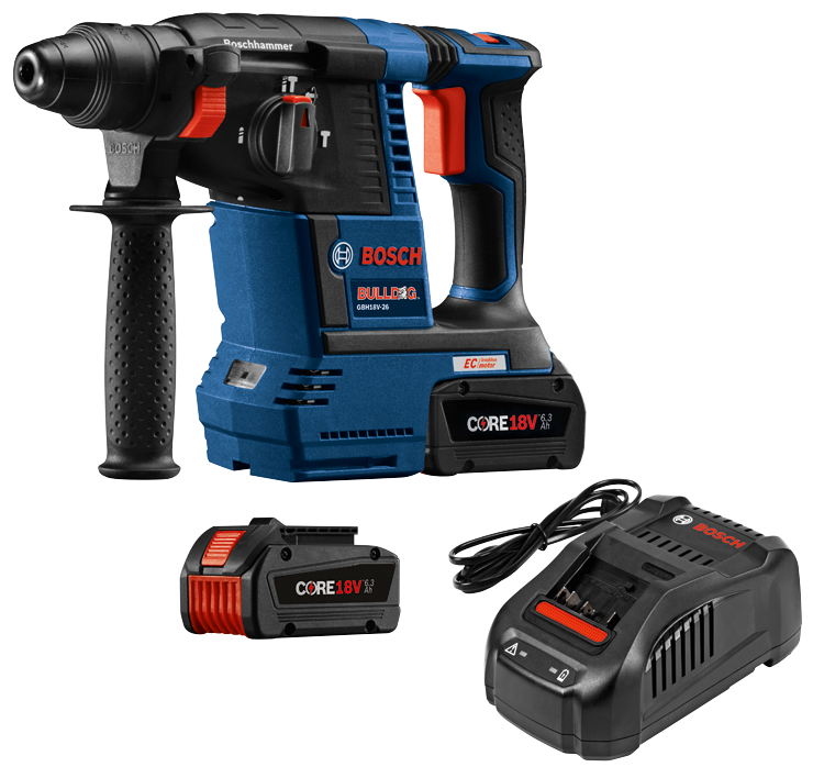 GBH18V-26K24 18V EC Brushless SDS-plus® Bulldog™ 1 In. Rotary Hammer Kit
