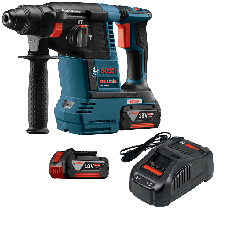 GBH18V-26K 18V EC Brushless SDS-plus® Bulldog™ 1 In. Rotary Hammer Kit
