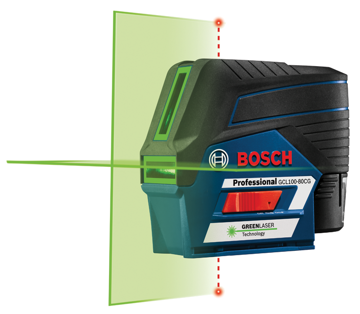 GCL100-80CG 12V Max Connected Green-Beam Cross-Line Laser with Plumb Points