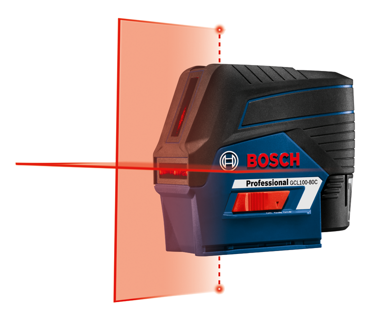 GCL100-80C 12V Max Connected Cross-Line Laser with Plumb Points