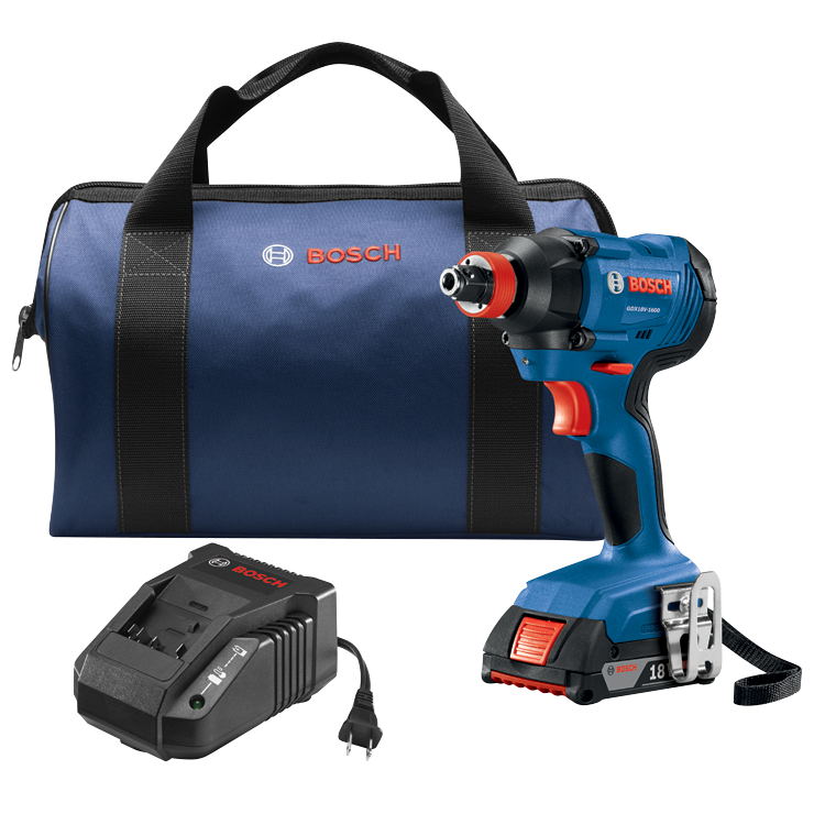 GDX18V-1600B12 18V 1/4 In. and 1/2 In. Two-In-One Bit/Socket Impact Driver Kit