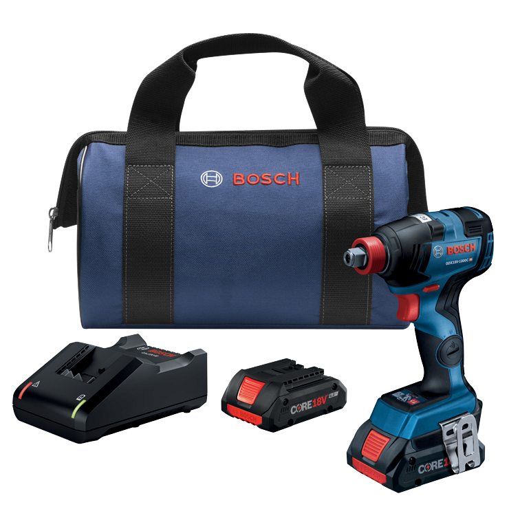 GDX18V-1800CB25 18V EC Brushless Connected Freak 1/4 In. and 1/2 In. Two-In-One Bit/Socket Impact Driver Kit with (2) CORE18V 4.0 Ah Compact Batteries