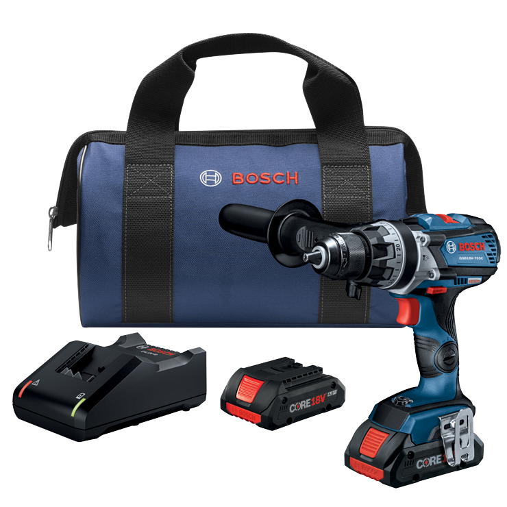 GSB18V-755CB25 18V EC Brushless Connected-Ready Brute Tough 1/2 In. Hammer Drill/Driver Kit with (2) CORE18V Batteries