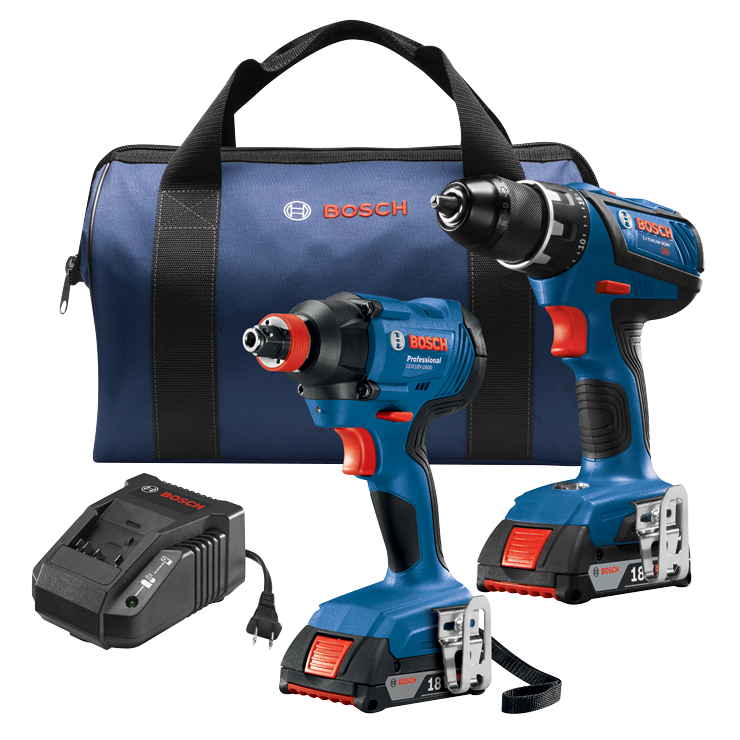 GXL18V-232B22 18V 2-Tool Combo Kit with Compact Tough 1/2 In. Drill/Driver and 1/4 In. and 1/2 In. Two-In-One Bit/Socket Impact Driver