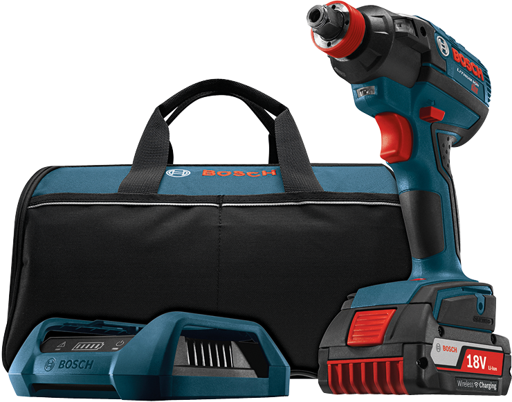 IDH182WC-101 18V EC Brushless 1/4 In. and 1/2 In. Two-In-One Bit/Socket Impact Driver Wireless Charging Kit