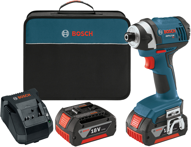IDS181-01 18 V 1/4 In. Hex Compact Tough Impact Driver w/ 2 Fat Pack Batteries
