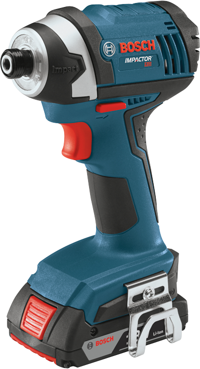 IDS181 18 V 1/4 In. Hex Compact Tough Impact Driver with 2 SlimPack Batteries
