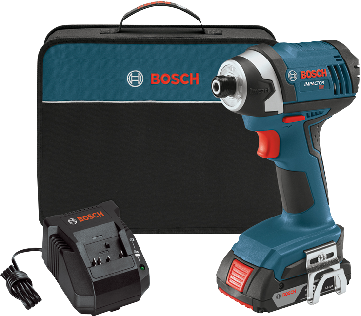 IDS181-102 18 V 1/4 In. Hex Compact Tough Impact Driver w/ 2 SlimPack Batteries