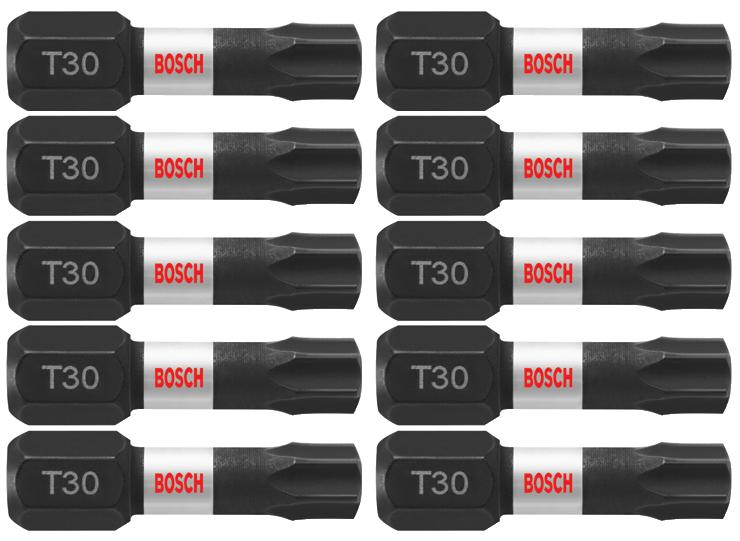 "Impact Rated T30 Torx 1/"" Insert Bit 15 Pack"