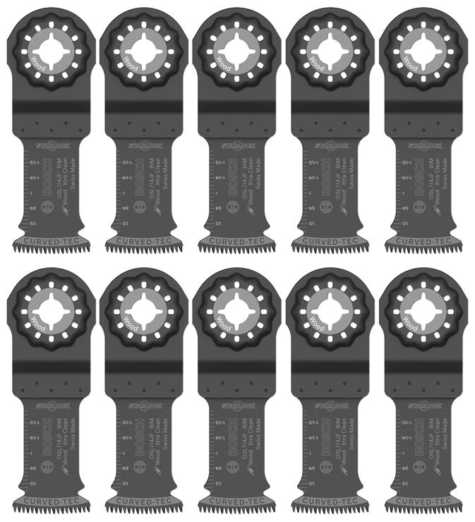 StarlockPlus Oscillating Multi Tool High-Carbon Steel Plunge Cut Blade Bosch OSP114 1-1//4 In
