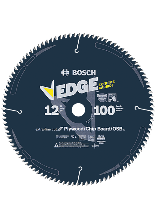 PRO12100CHBB 12 In. 100 Tooth Edge Circular Saw Blade for OSB/Plywood/Plastic
