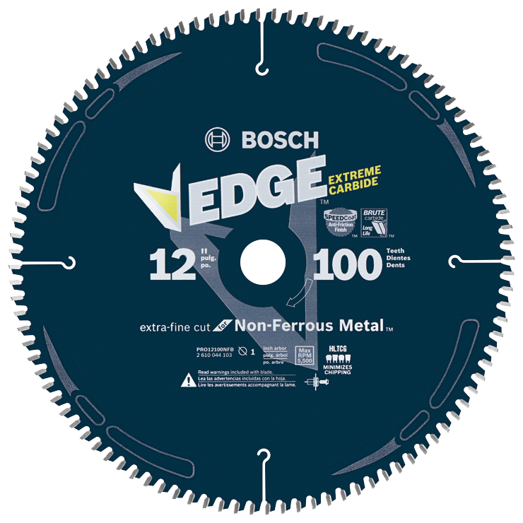 PRO12100NFB 12 In. 100 Tooth Edge Non-Ferrous Metal-Cutting Circular Saw Blade