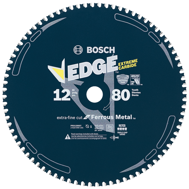 PRO1280ST 12 In. 80 Tooth Edge Circular Saw Blade for Ferrous Metal Cutting