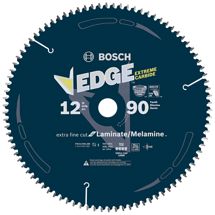 PRO1290LAM 12 In. 90 Tooth Edge Circular Saw Blade for Laminate