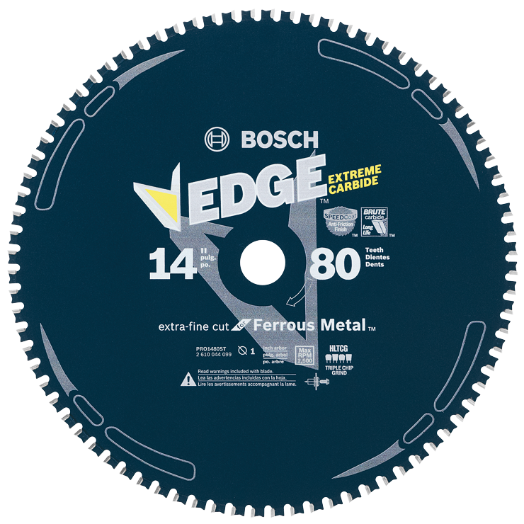 PRO1480ST 14 In. 80 Tooth Edge Circular Saw Blade for Ferrous Metal Cutting