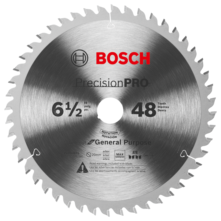 PRO648TS 6-1/2 In. 48-Tooth Precision Pro Series Track Saw Blade