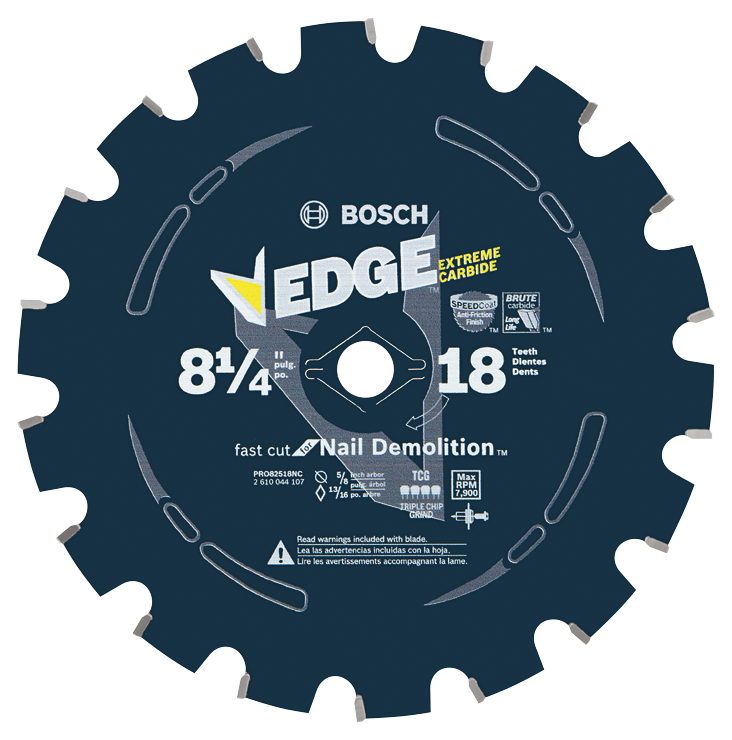 PRO82518NC 8-1/4 In. 18 Tooth Edge Circular Saw Blade for Nail Demolition