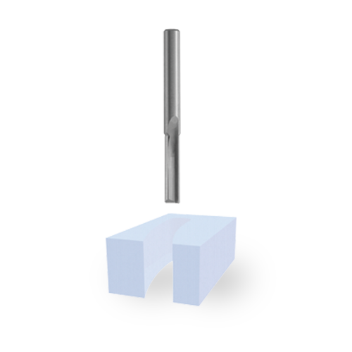 Solid Carbide Double-Flute O-Flute Bits