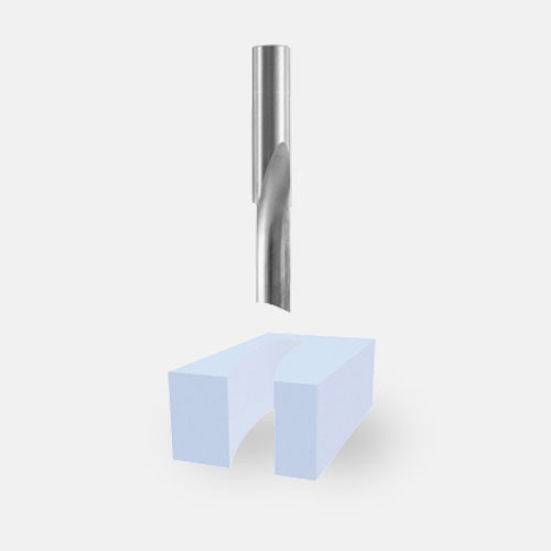 Solid Carbide Single-Flute O-Flute Bits