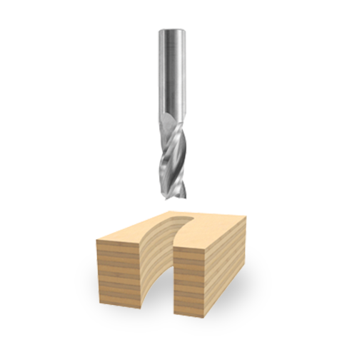 Solid Carbide Triple-Flute Upcut Spiral Bit