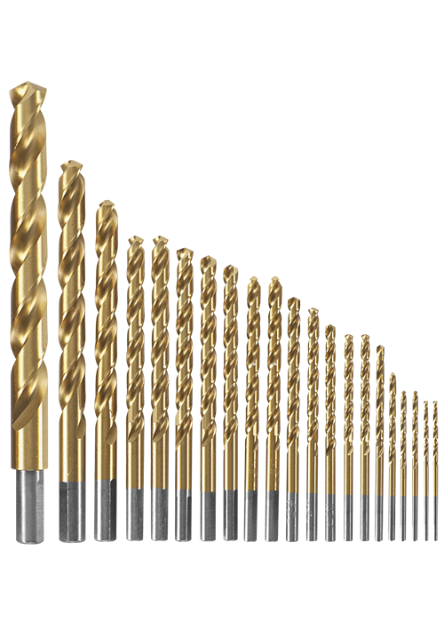 TI21A 21 pc. Titanium-Coated Metal Drill Bit Set