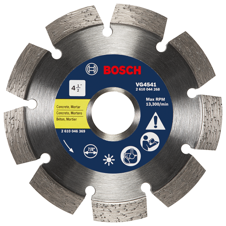 VG4541 4-1/2 In. Segmented Rim V-Groove Diamond Blade for Universal Rough Cuts
