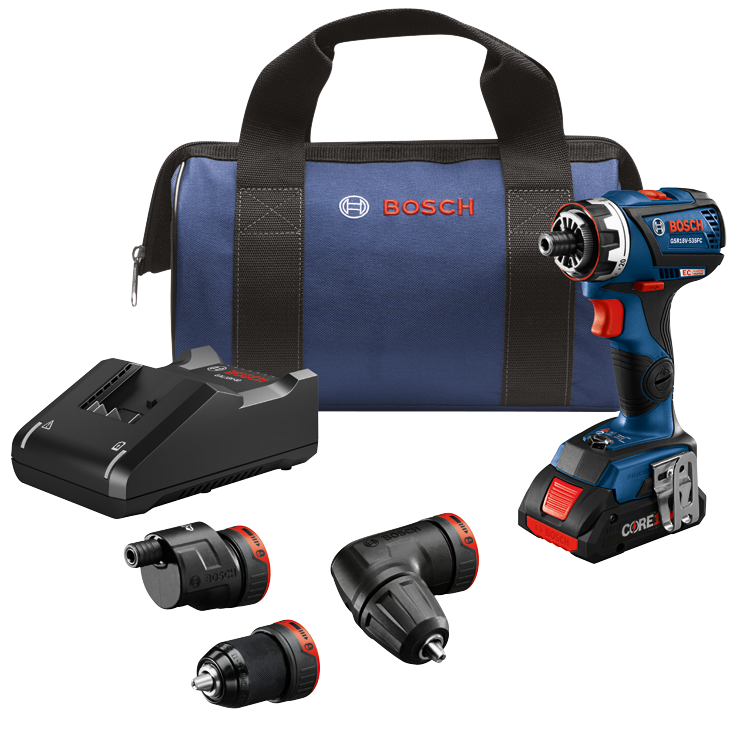 GSR18V-535FCB15 18V EC Brushless Connected-Ready Flexiclick® 5-In-1 Drill/Driver System with (1) CORE18V 4.0 Ah Compact Battery