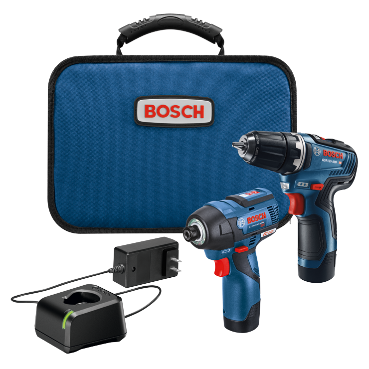 GXL12V-220B22 12V Max 2-Tool Combo Kit with 3/8 In. Drill/Driver, 1/4 In. Hex Impact Driver and (2) 2.0 Ah Batteries