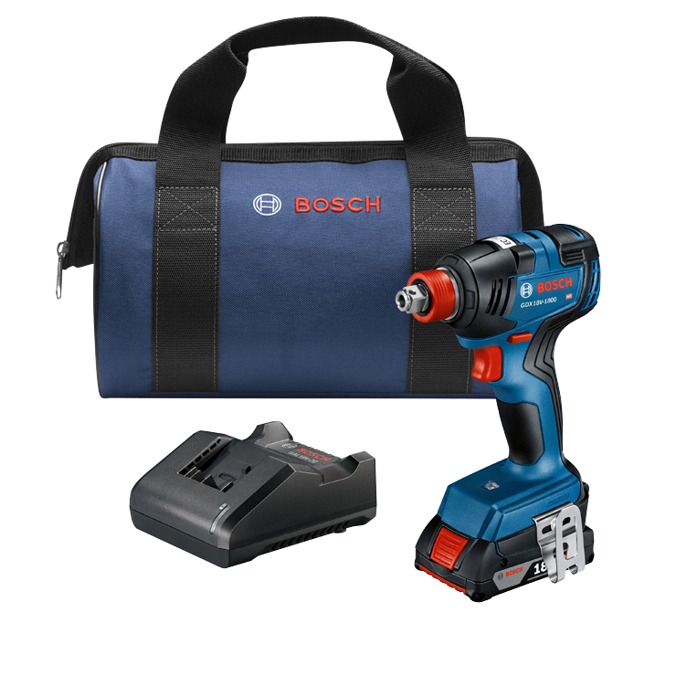 GDX18V-1800B12 18V EC Brushless 1/4 In. and 1/2 In. Two-in-One Bit/Socket Impact Driver Kit with 2.0 Ah SlimPack Battery