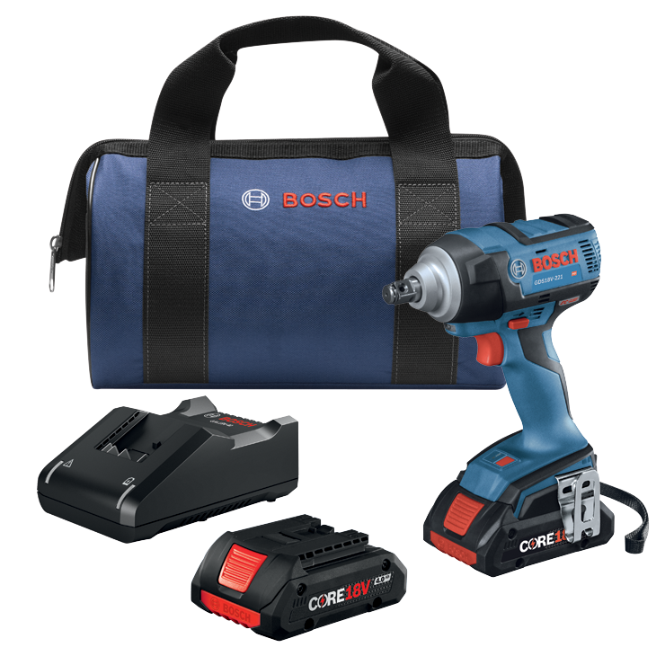 GDS18V-221B25 18V EC Brushless 1/2 In. Impact Wrench Kit with (2) CORE18V 4.0 Ah Compact Batteries