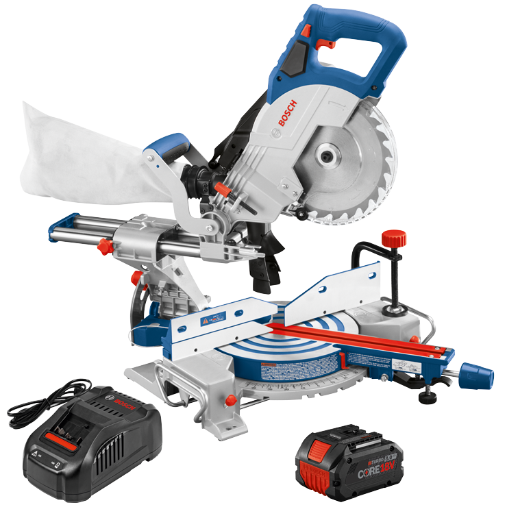 GCM18V-08N14 18V 8-1/2 In. Single-Bevel Slide Miter Saw Kit with (1) CORE18V 8.0 Ah Performance Battery