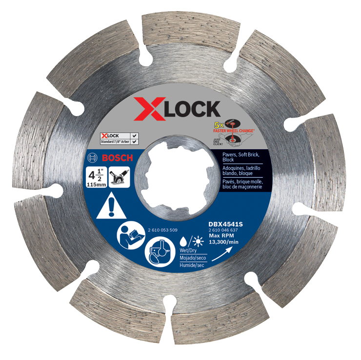 DBX4541S 4-1/2 In. X-LOCK Segmented Rim Diamond Blade