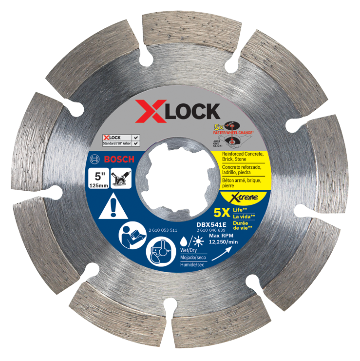 DBX541E 5 In. X-LOCK Xtreme Segmented Diamond Blade