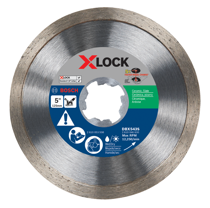 DBX543S 5 In. X-LOCK Continuous Rim Diamond Blade