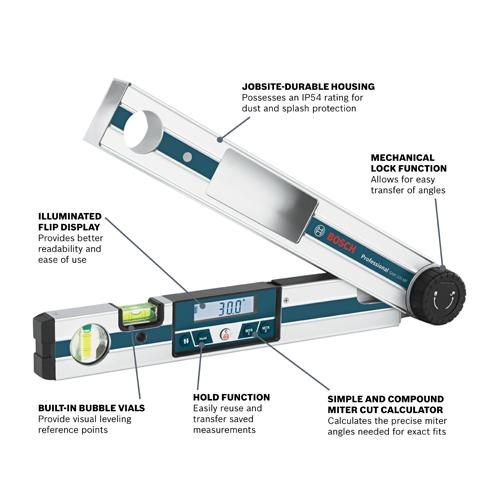 Gam 220 Mf Digital Angle Finder Bosch Power Tools