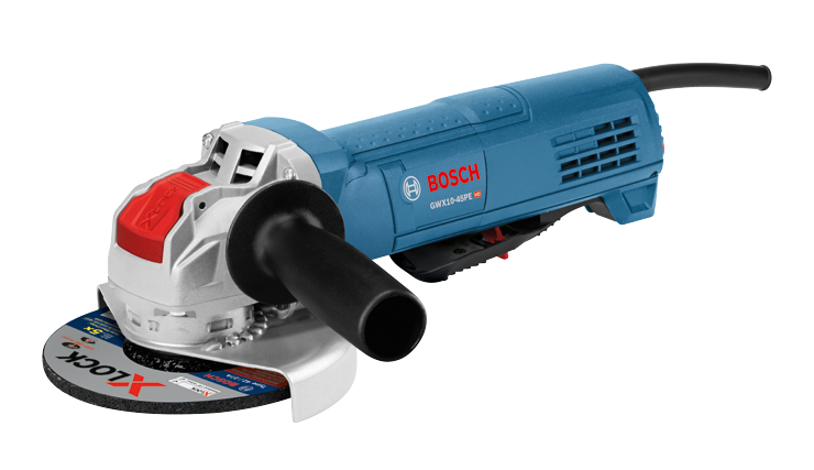 GWX10-45PE 4-1/2 In. X-LOCK Ergonomic Angle Grinder with Paddle Switch