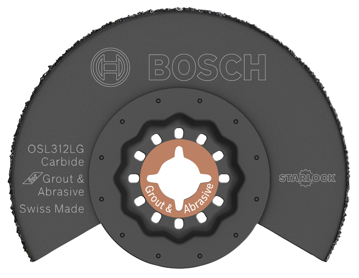 OSL312LG 3-1/2 In. Starlock® Oscillating Multi Tool Carbide Grit Grout Blade