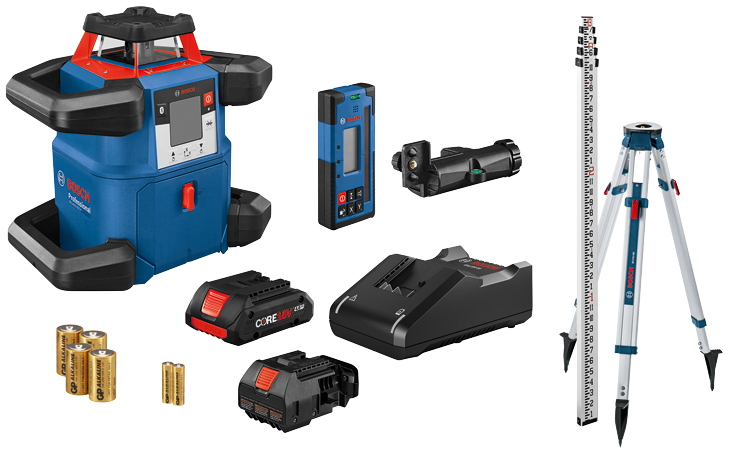 GRL4000-80CHK 18V REVOLVE4000 Connected Self-Leveling Horizontal Rotary Laser Kit with (1) CORE18V 4.0 Ah Compact Battery