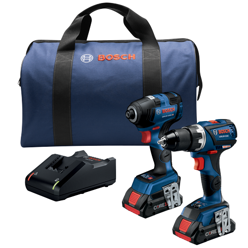 GXL18V-238B25 18V 2-Tool Combo Kit with Connected-Ready 1/4 In. Hex Impact Driver, Connected-Ready Compact Tough 1/2 In. Drill/Driver and (2) CORE18V 4.0 Ah Batteries
