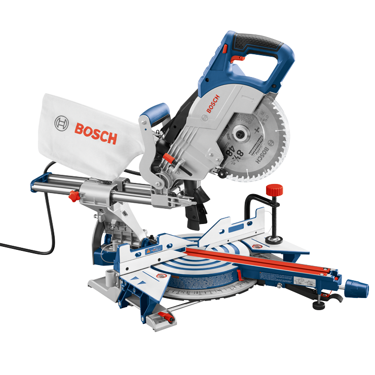 Cm8s Sierra Ingletadora Deslizante Con Bisel Simple 8 1 2 Bosch Power Tools