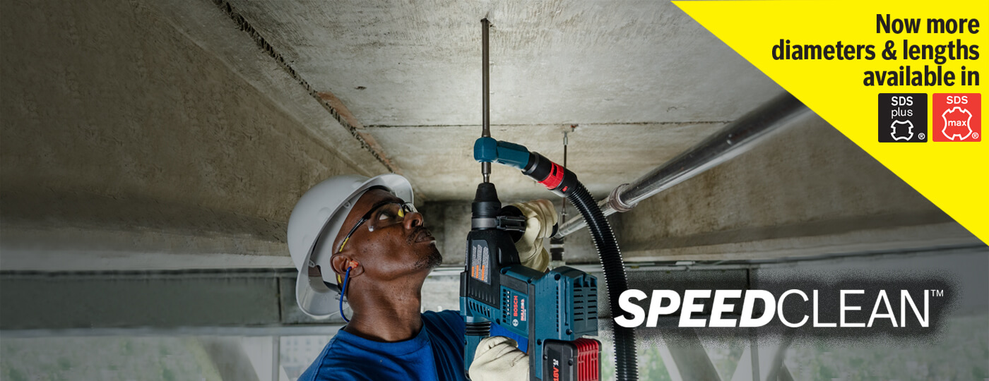 Speed Clean - Dust Extraction Drill Bits Banner