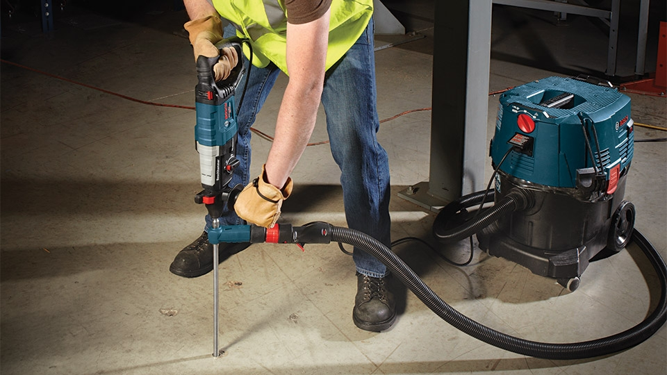 Bosch Speed Clean makes fast work of silica dust removal.